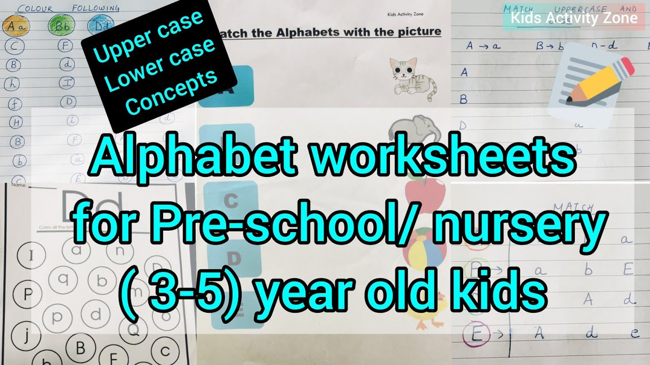Alphabet worksheets for preschool/ nursery (3-5) year old kids/nursery  English worksheet - YouTube [ 720 x 1280 Pixel ]