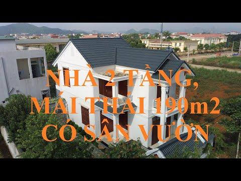 Mẫu nhà vuông 2 tầng mái thái ở nông thôn đẹp nhất 2019, tại Tam Điệp Ninh Bình