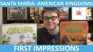 My thoughts on Santa Maria: American Kingdoms Kickstarter: https://...