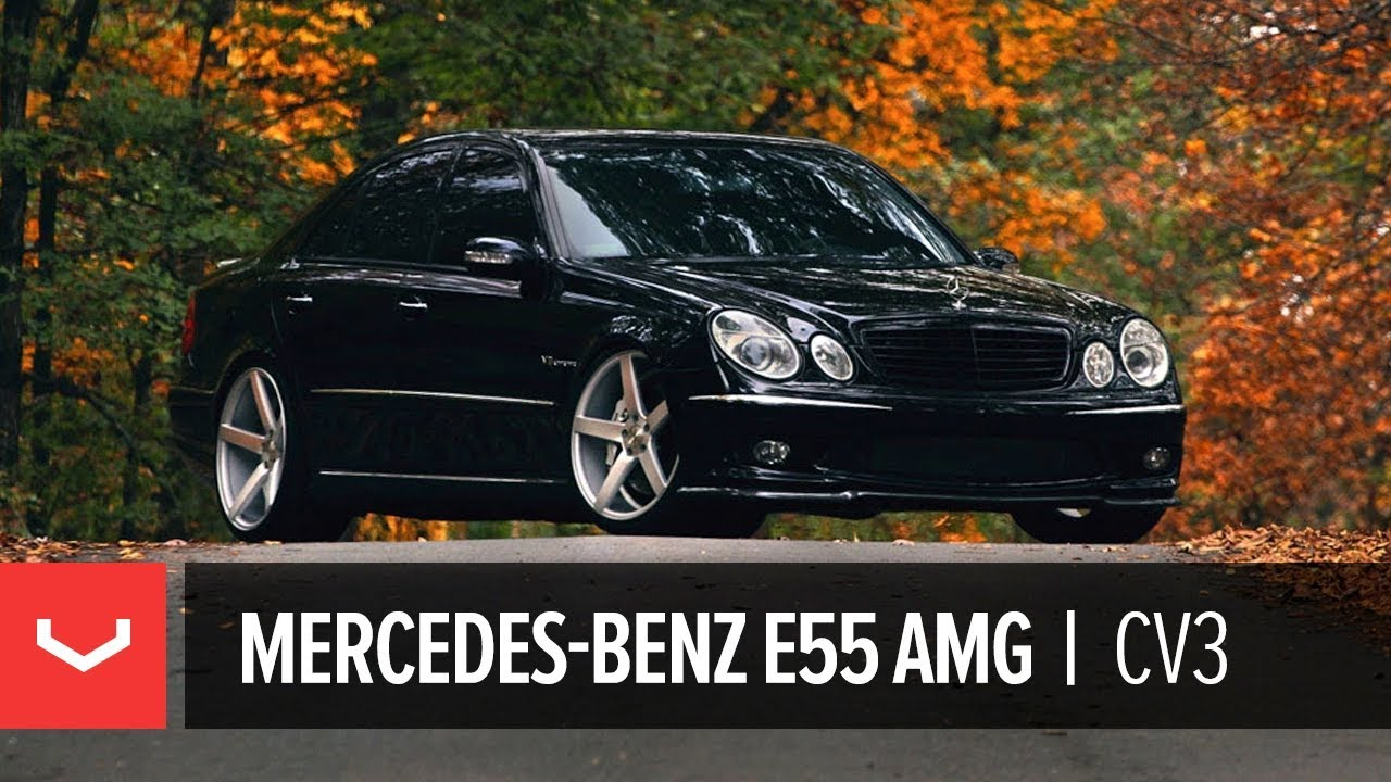 mercedes benz e55 amg on 20 vossen vvs cv3 concave wheels. Black Bedroom Furniture Sets. Home Design Ideas