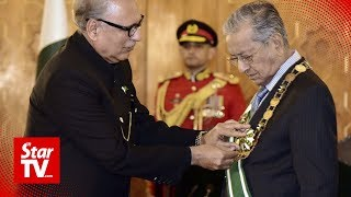 Dr M conferred Pakistan's highest civilian award