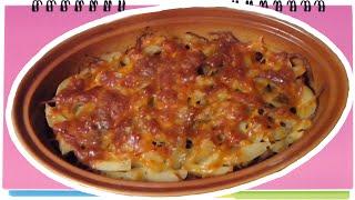 Картошка с мясом и сыром в духовке