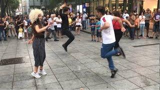 Девушка Танцует Огненно В Центре Тбилиси С Парнями 2019 Чеченская Лезгинка Мой Нанак ALISHKA ELVIN