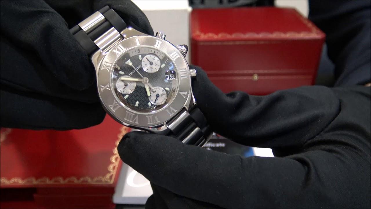 08d3ed295ba Cartier Chronoscaph 21 Chrono Quartz | WatchesGMT - YouTube