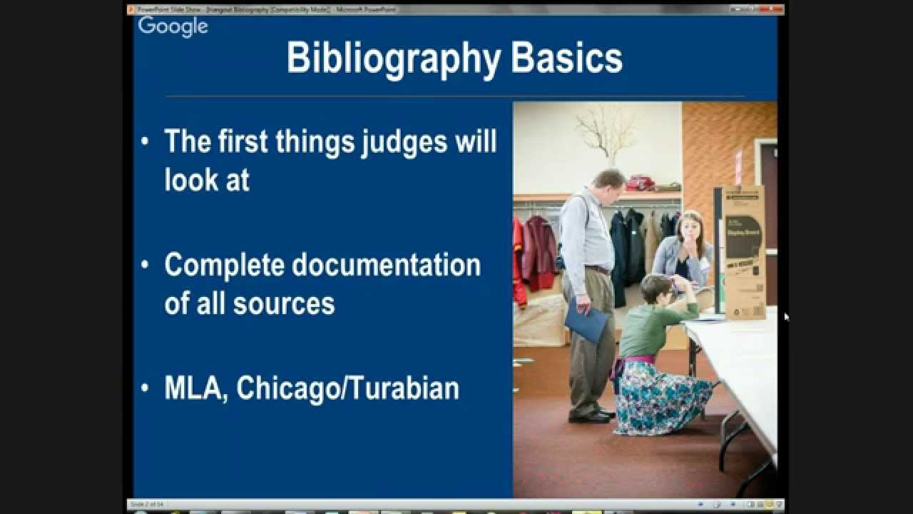 NHD In text citations and annotated bibliographies   YouTube