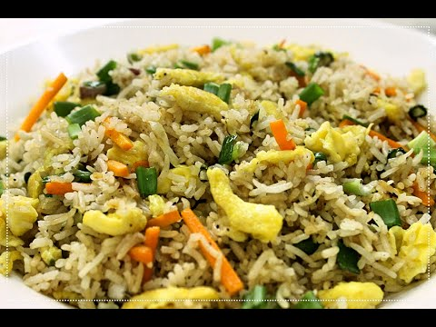 Egg Fried Rice Recipe - Indo Chinese Cuisine - Kitchen Foods Of India