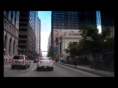 Driving Downtown – Baltimore St – Baltimore Maryland