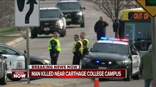 Kenosha Police: Pedestrian killed near Carthage College
