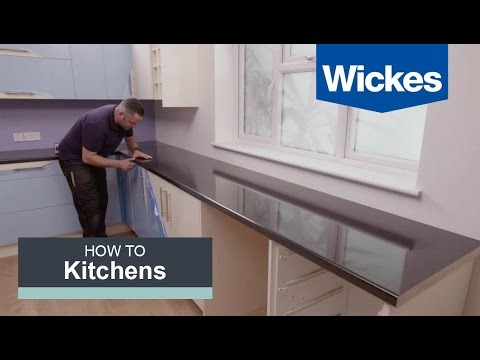 How to Fit a Kitchen Worktop with Wickes