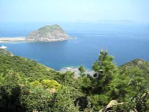 渡嘉敷島東岸からのパノラマ風景