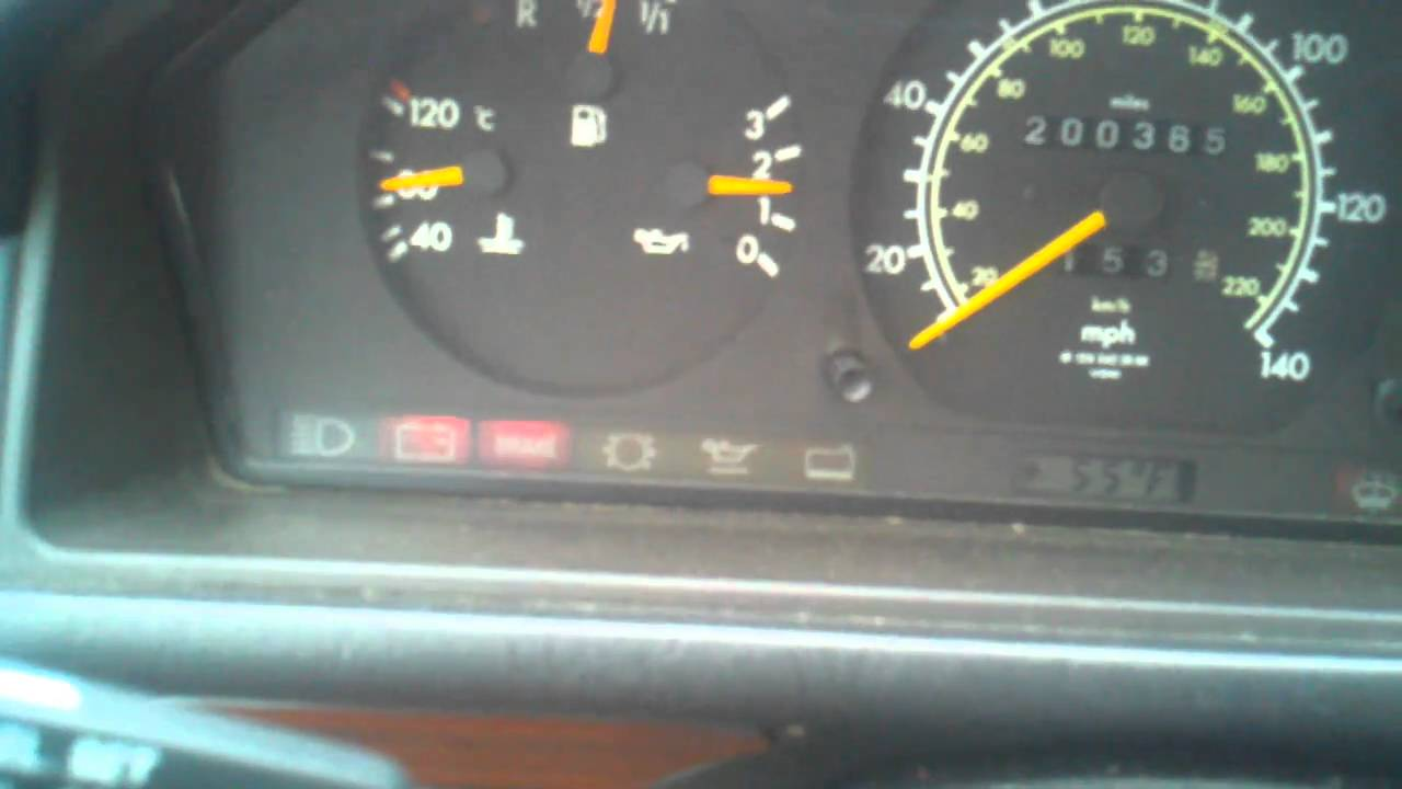 1992 mercedes 300d dash light issues youtube for Mercedes benz dashboard lights not working