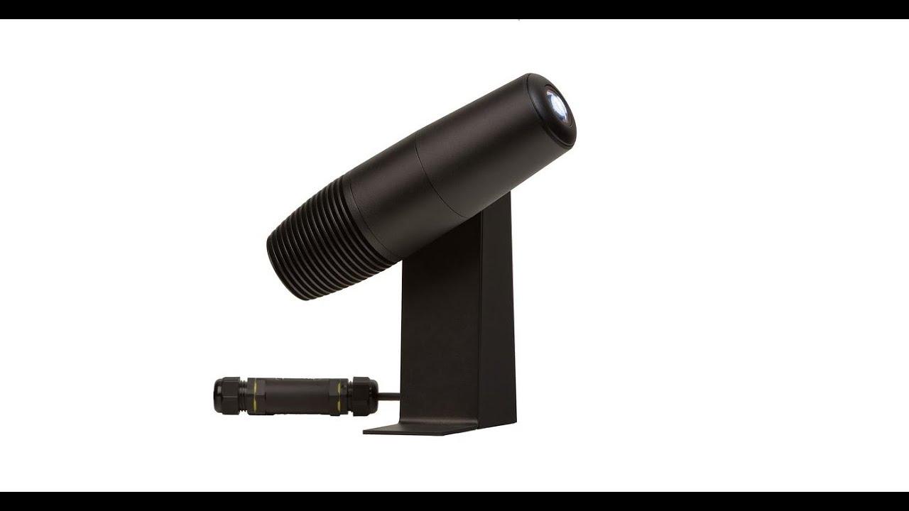 phos 20 outdoor led gobo projector youtube. Black Bedroom Furniture Sets. Home Design Ideas
