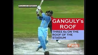 (HQ) Ganguly's ROOF! Clears the roof 3 times - ToNY Grieg Classic Commentary