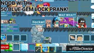 NOOB WITH 50 BLUE GEM LOCK PRANK! (DON