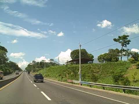 Driving from San Salvador to Sonsonate -part1 (El Salvador)