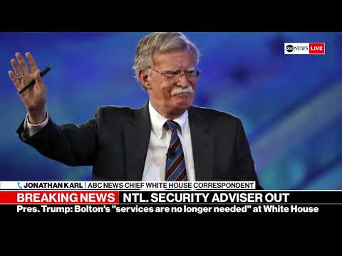 BREAKING NEWS - Trump fires National Security Adviser John Bolton | ABC News