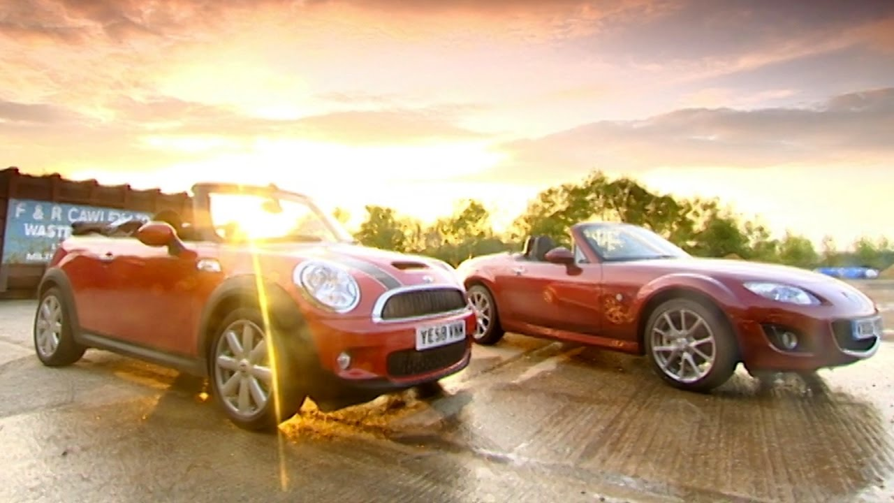 Mini Cooper S Cabriolet Vs Mazda Mx5 Fifth Gear Youtube