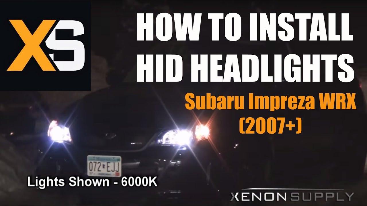 Wrx Hid Diagram Great Design Of Wiring Subaru Lights How To Install Xenon Impreza 2007 Youtube Rh Com Canceller For Headlight Driving Light