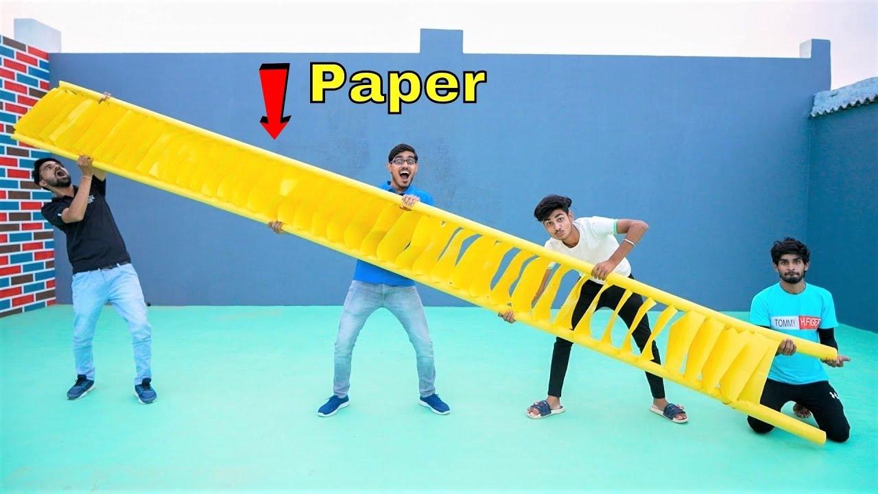 We Made Biggest Paper Ladder | कागज़ की सबसे बड़ी सीढ़ी |