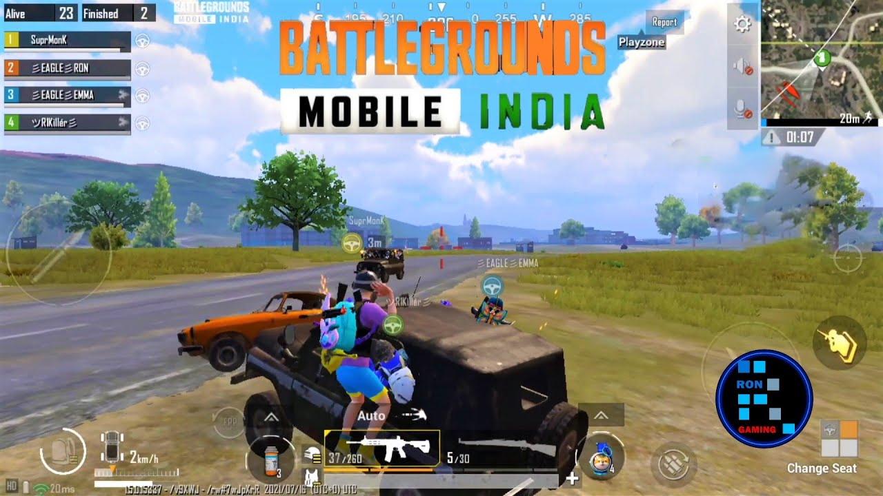 BGMI | CAR RUSH GAMEPLAY WITH CHICKEN DINNER