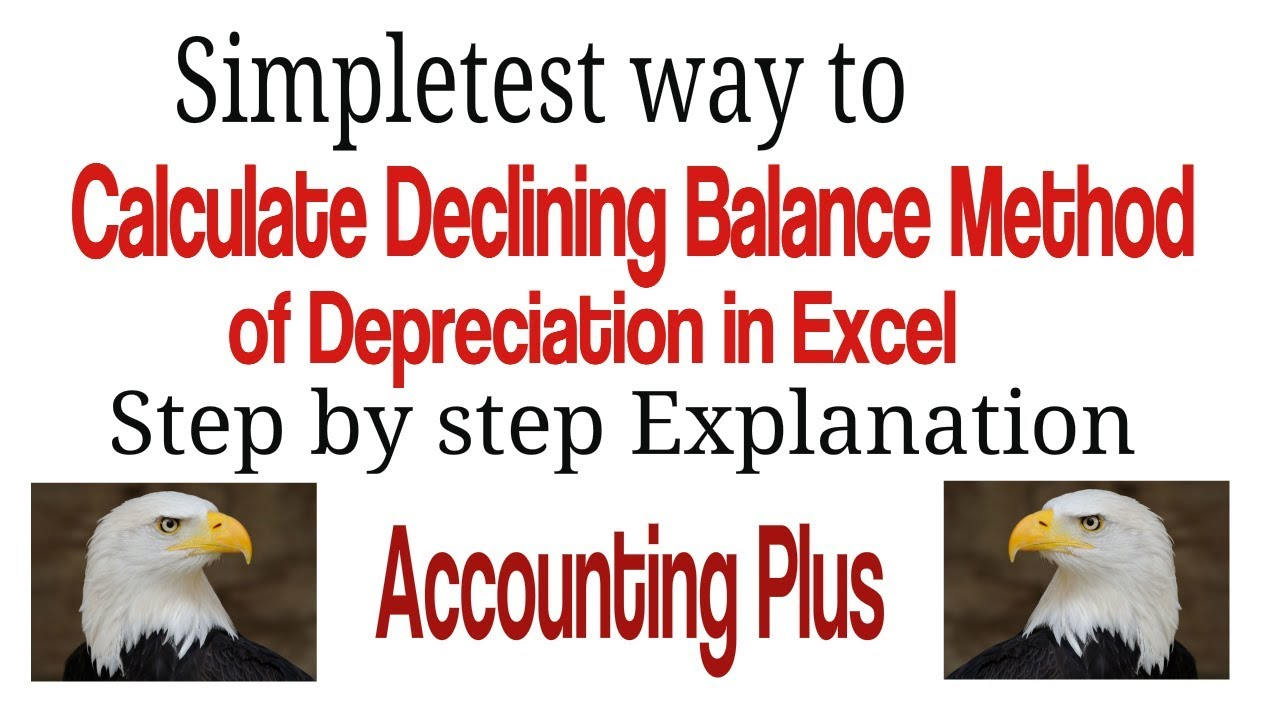 calculate declining balance method of depreciation in excel youtube