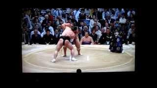 日馬富士vs魁聖 平成27年大相撲春場所 Harumafuji vs Kaisei SUMO 結び...