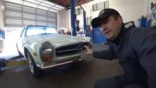 Mercedes SL230 Cabrio 1964 Настоящий Немец ! Обзор !