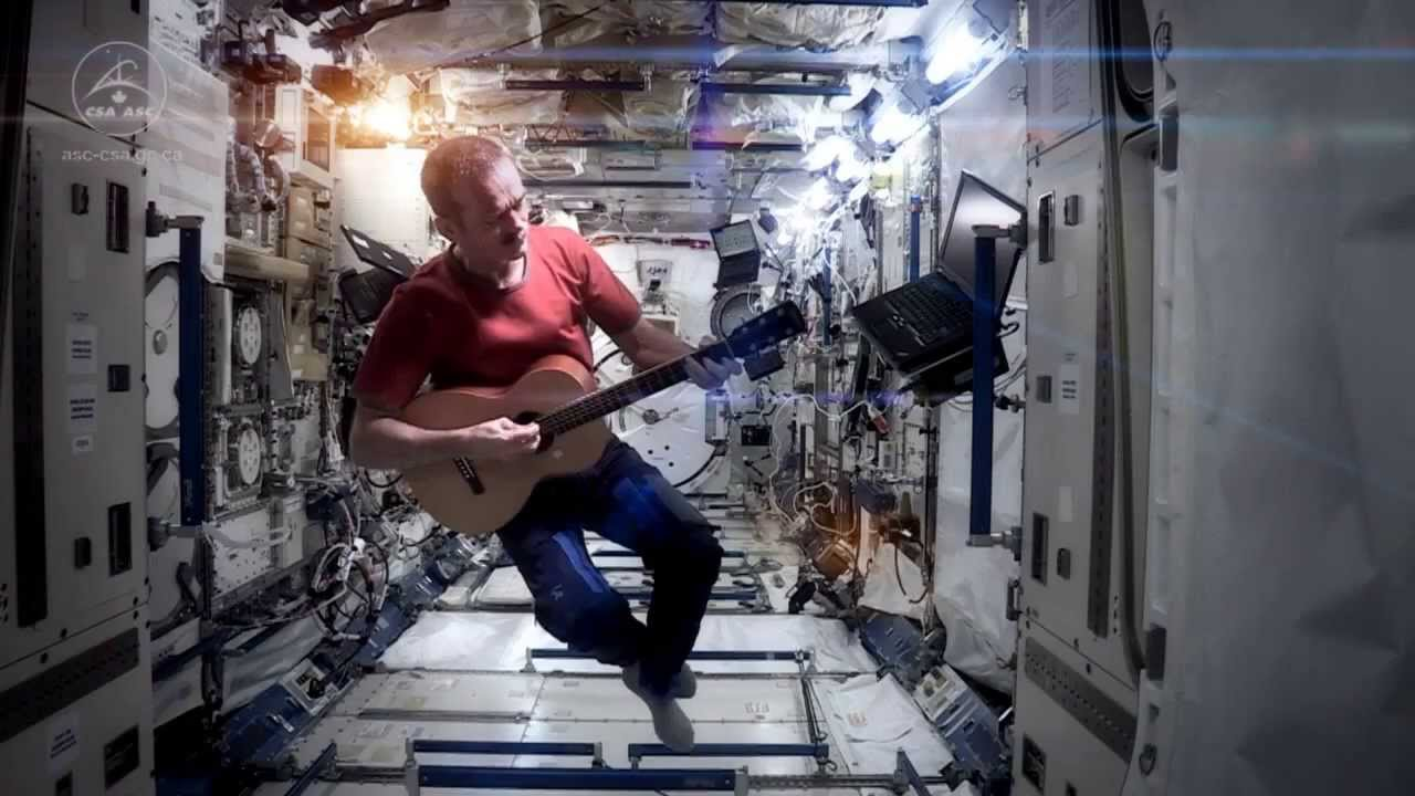 Space Oddity - Chris Hadfield video onboard ISS with Larrivée Guitar