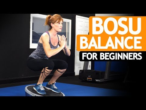 TOP 6 Bosu Ball Balance Exercises for BEGINNERS & SENIORS