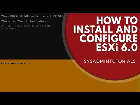 vSphere 6 - How to install and configure VMware ESXi 6