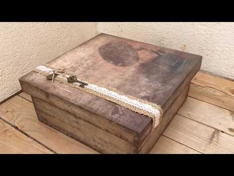 Caja vintage decorada con papel de scrapbooking – creavea