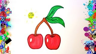 Easy drawings for children cherries | Easy drawing | Drawings to draw