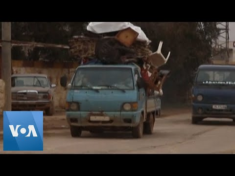 Syrians Flee Aleppo As Regime Pushes Offensive