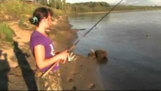 Рыбалка на реке Чулым.