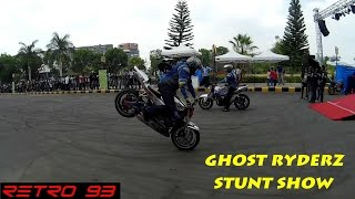 Pulsar 200NS Stunts + Superbike stunts by GHOST RYDERZ at Times Auto Show 2015 Bangalore