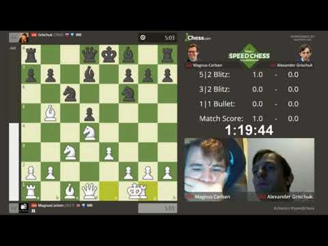 Magnus Carlsen vs Alexander Grischuk  Speed Chess Championship 2017 Semifinal (part 1)