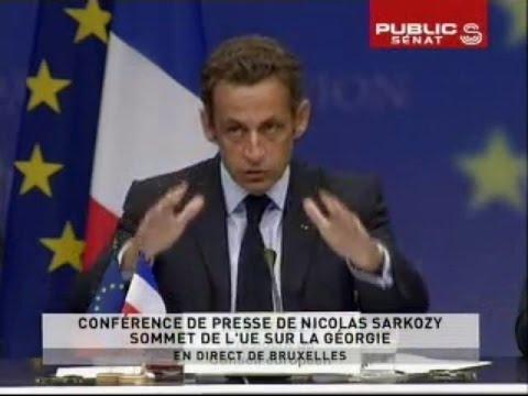Spécial discours de Nicolas Sarkozy en direct de Bruxelles - Journal (01/09/2008)