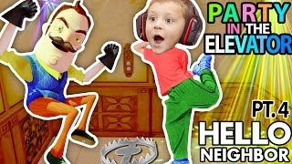 HELLO NEIGHBOR, CAN WE PARTY IN YOUR ELEVATOR? Scary FNAF Theme Park House? (FGTEEV Part 4 Alpha 1) thumbnail