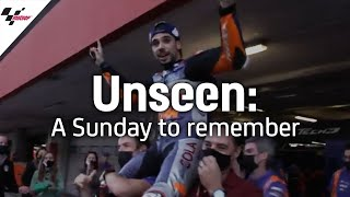 Unseen: Oliveira and Tech3 celebrate a Sunday to remember