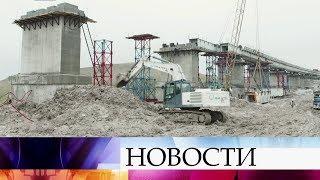 Завершен еще один этап строительства железнодорожного моста через Керченский пролив.