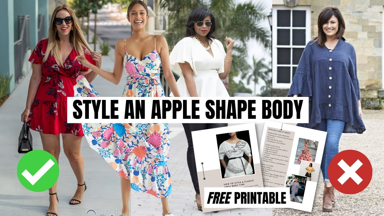 How To Style An Apple Shape Body | plus size fashion tips