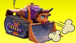 АнимаКары - лучшее из бык бульдозер - мультфильмы с машинами и животными