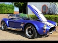Cars & Coffee AC Cobra Massive Engine Noise, Revving and Acceleration