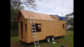 How To Build A Tiny House -  Episode 16 - Wall & Roof Framing, Sheathing, & Tar Paper