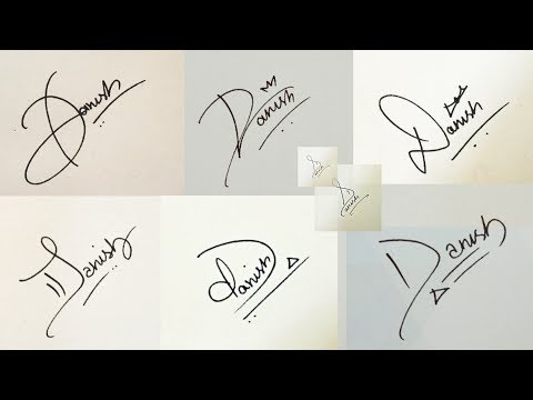 "How to Draw Signature like a Billionaire (For Alphabet ""D"")"