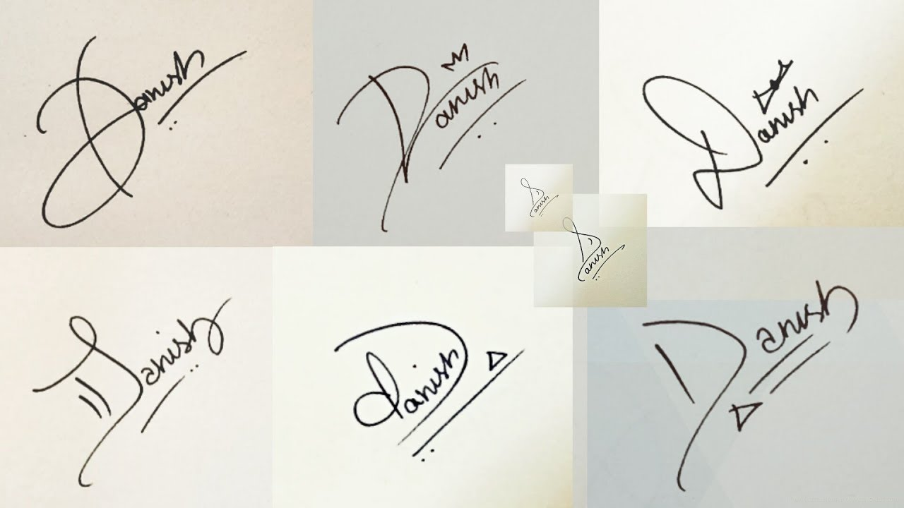 How To Draw Signature Like A Billionaire For Alphabet D Youtube