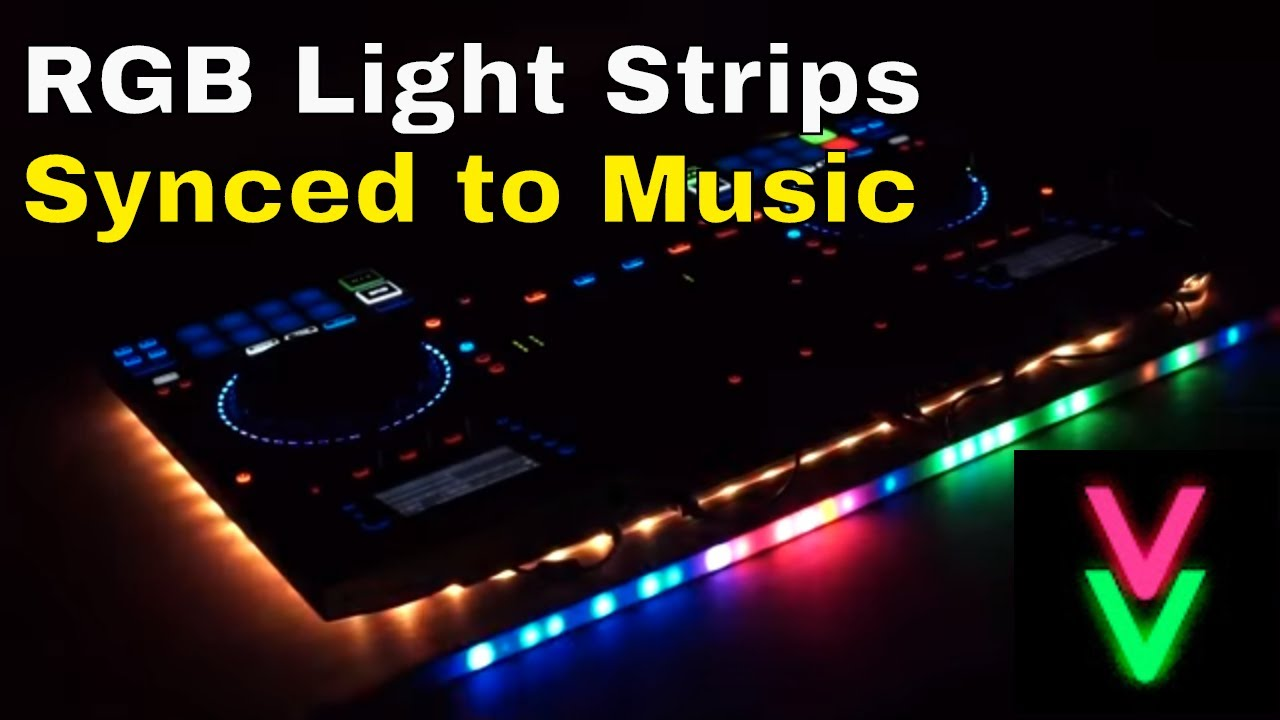 RGB Light Strips Synced to Music Automatically - ViVi Music LED Controller