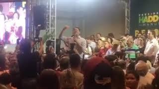 Cid Gomes, (PDT), bateu boca com militantes petistas em evento pró-Haddad, em Fortaleza