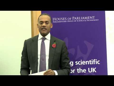 Adam Afriyie MP opens the POST seminar on Big Data