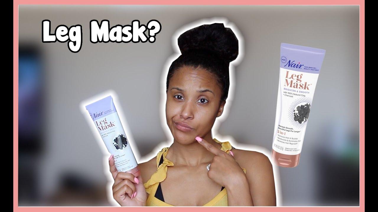 Nair Charcoal Leg Mask Review Youtube